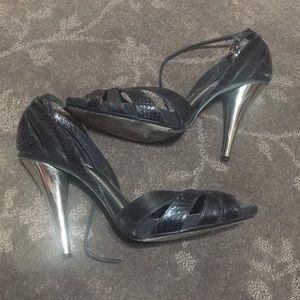 ALDO Leather Black Heels